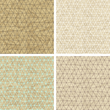 Seamless lace patterns on old paper texture Stock Vector - 18992583