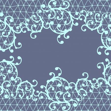 trabajo manual: Patrón de encaje transparente con adornos florales Vectores