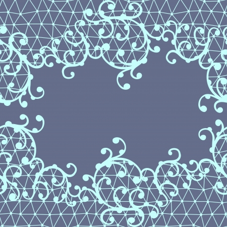 handwork: Seamless lace pattern with floral ornaments  Illustration