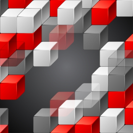 Abstract geometric background, design template  Illustration