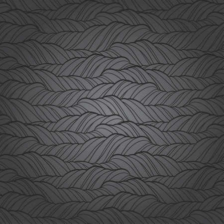 Seamless wave abstract hand drawn pattern Stock Vector - 19248043