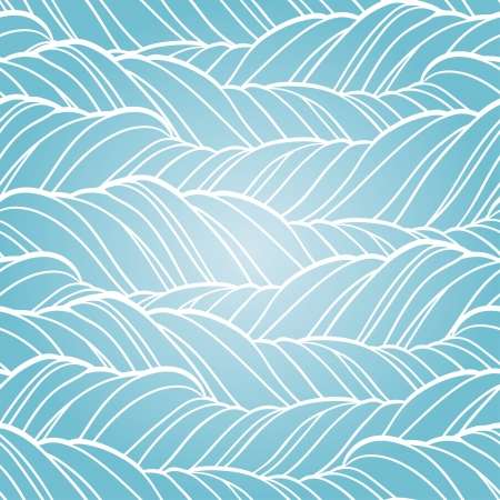 Seamless wave abstract hand drawn pattern  Stock Vector - 19248041