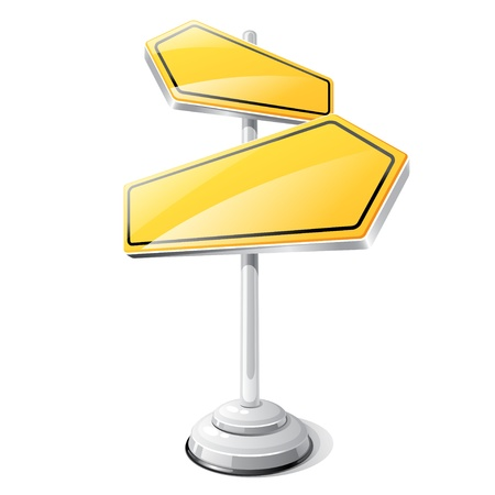 roadsigns: Yellow road sign isolated design template