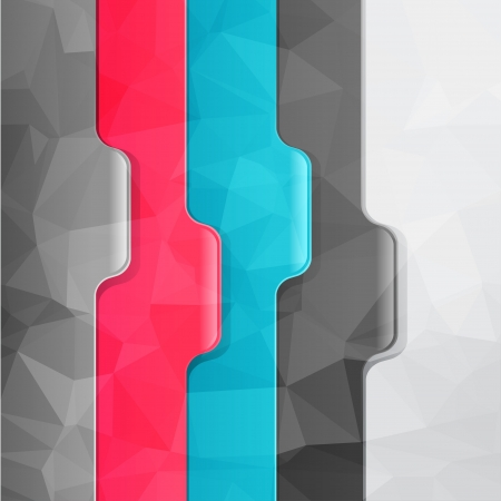 Business geometric background  Paper numbered banners  Vector
