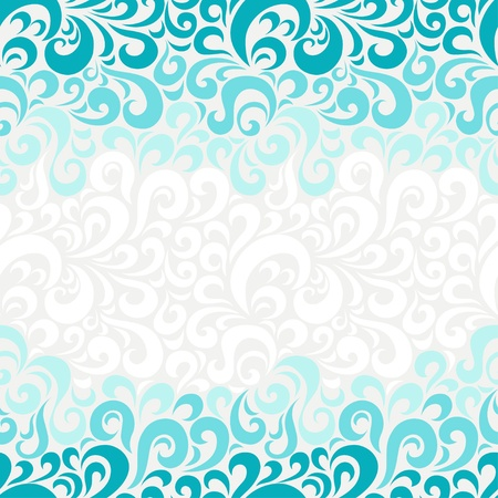 and turquoise: Abstract seamless floral pattern