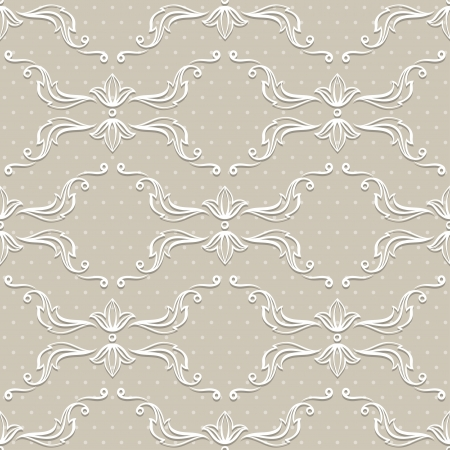 Seamless vintage wallpaper, floral pattern, retro wallpaper  Stock Vector - 19352436