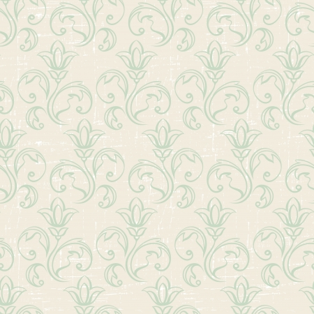 Seamless vintage wallpaper, floral pattern, retro wallpaper  Vector