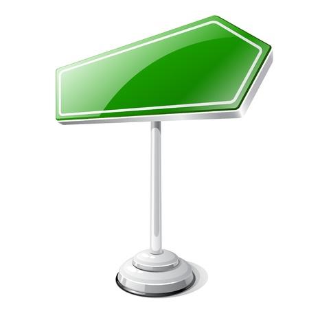 Informatie weg verkeersbord geïsoleerd op wit