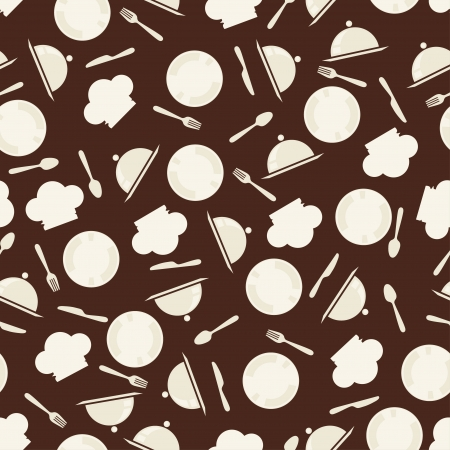 Seamless retro kitchen pattern  Vector