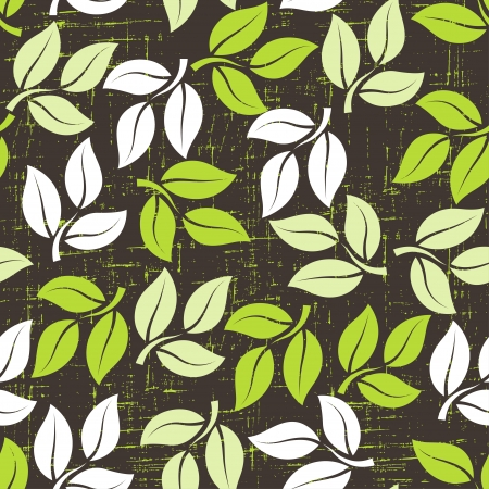 patterned wallpaper: Seamless pattern with leaves