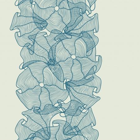pencil plant: Hand drawn seamless floral pattern