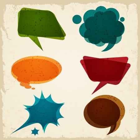 Speech bubble in retro style  Vector