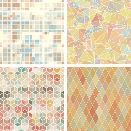 Seamless abstract geometric patterns set Stock Vector - 19910842