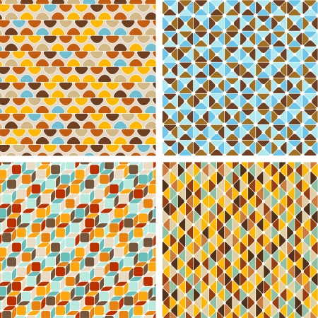 Seamless abstract geometric patterns set Stock Vector - 19910843