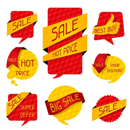 talk big: Sale speech bubbles and banners.
