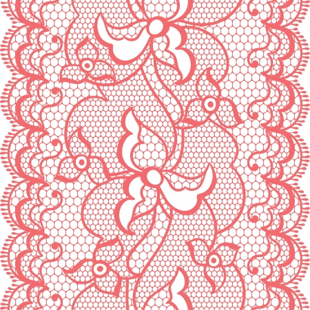 Lace fabric seamless border with abstract flowers. Stock Vector - 20478546