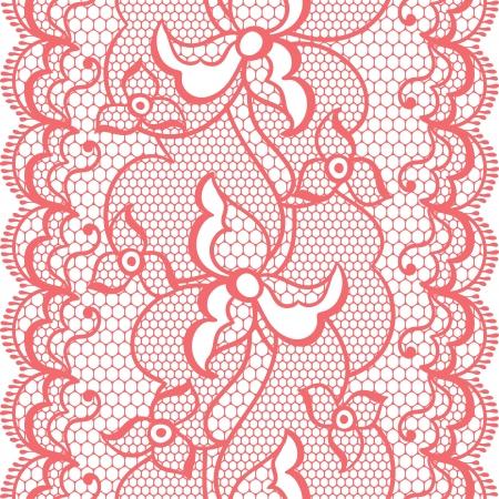lavoro manuale: Merletti il ??tessuto di frontiera senza soluzione di continuit� con fiori astratti.