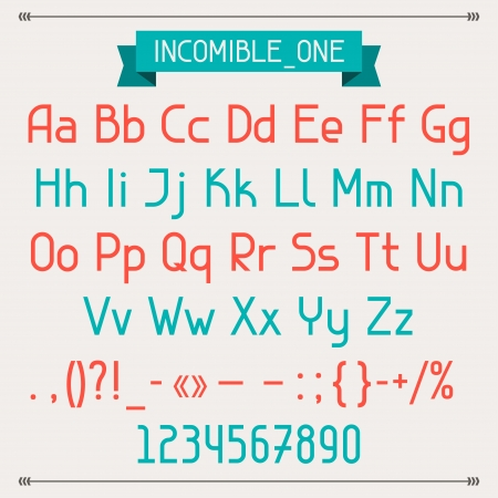 verbs: Incomible one classic style font.