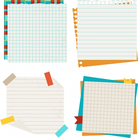 sticky notes: School and education background with sticky papers.