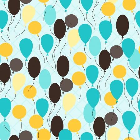 midair: Retro seamless pattern with ballons. Illustration
