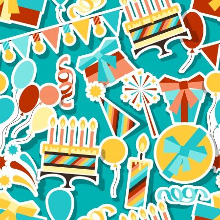 birth day: Happy Birthday party seamless pattern.