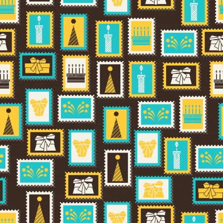 Happy Birthday party seamless pattern. Vector