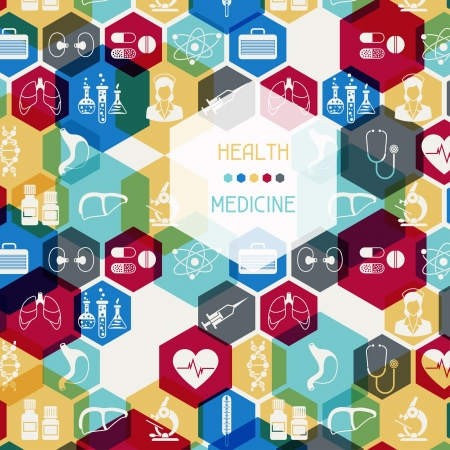 Medical and health care background. Illustration