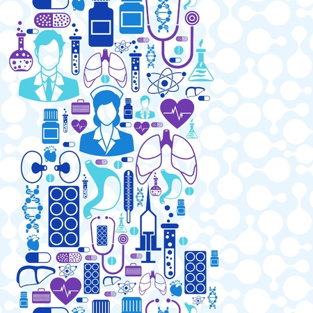 Medical and health care seamless pattern. Vector