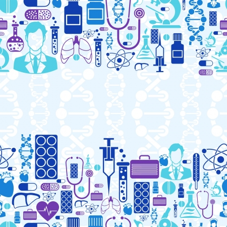 textile care: Medical and health care seamless pattern.