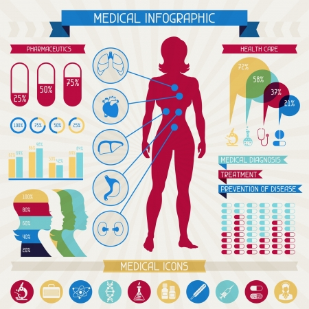 medicine infographic: Medical infographic elements collection.