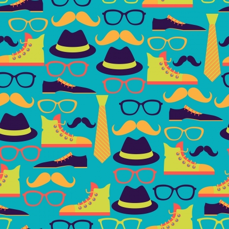 Hipster style seamless pattern Stock Vector - 20913511