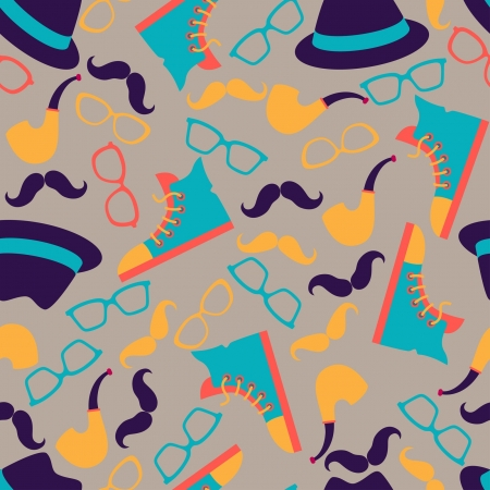 Hipster style seamless pattern. Stock Vector - 20913522
