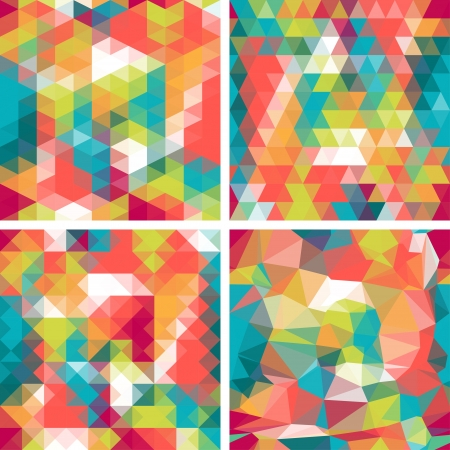 Seamless triangle patterns in retro style. Stock Vector - 20913523