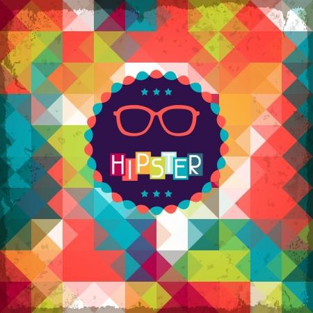 moda urbana: Hipster fondo en estilo retro.