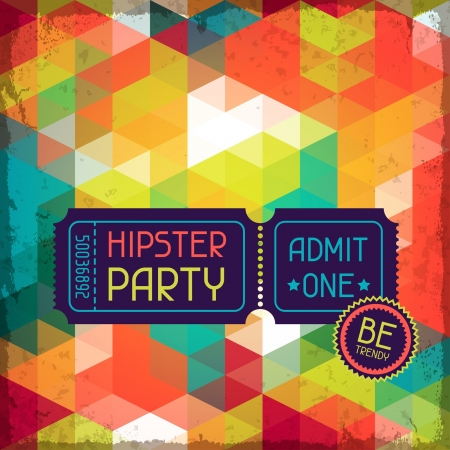 Hipster background in retro style. Stock Vector - 20913529