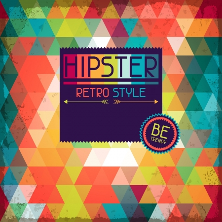 Hipster background in retro style. Vector