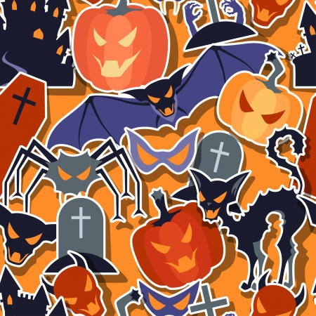 Halloween seamless pattern. Vector