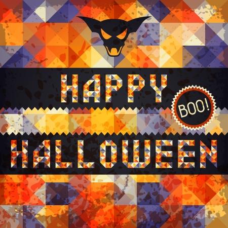 happy halloween: Happy Halloween grungy retro background.