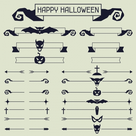 Halloween collection of design elements. Vector