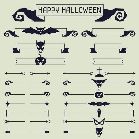 Halloween collection of design elements. Vector