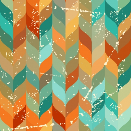 Seamless grunge pattern in retro style. Vector