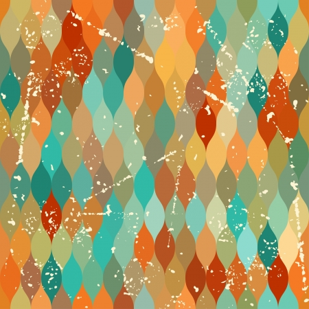 Seamless grunge pattern in retro style. Stock Vector - 21535679