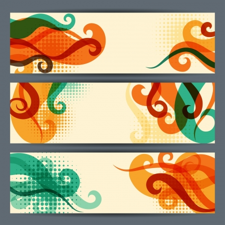 hairstylist: Hairstyle horizontal banners. Illustration
