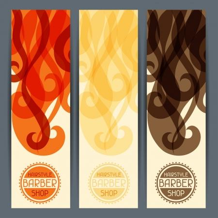 barbero: Banners verticales peinado.