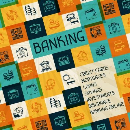 monedas antiguas: Banca conceptual y conocimiento de los negocios. Vectores