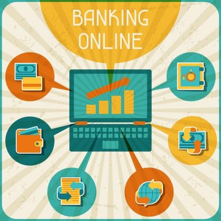 infogaphics: Banking online infographic.