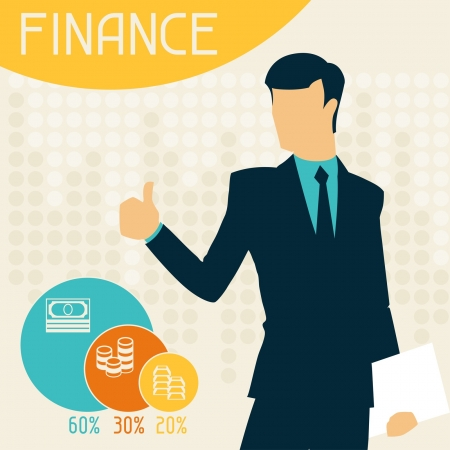 Finance infographics. Stock Vector - 21535784