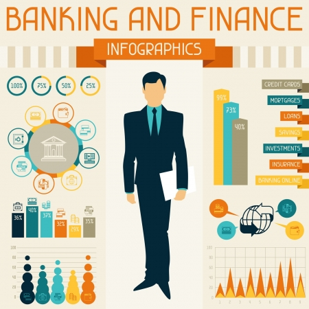 Banking and finance infographics. Stock Vector - 21535785