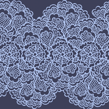 Old lace background, ornamental flowers. Vector texture. Vector