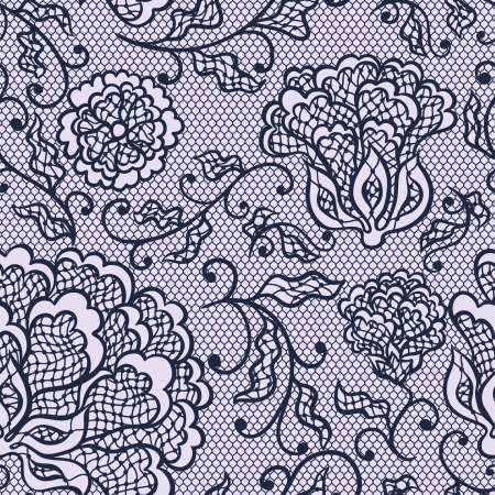 fringe: Old lace background, ornamental flowers. Vector texture. Illustration